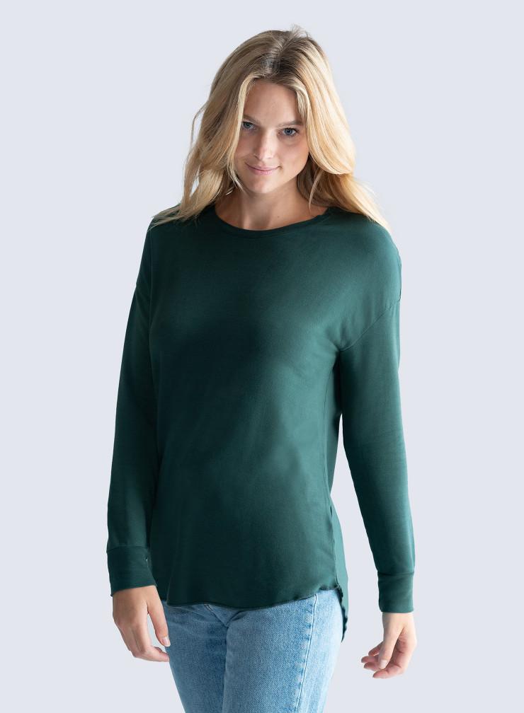 Round neck oversized T-shirt