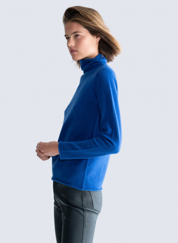 Stand-up collar rolled finish Sweat