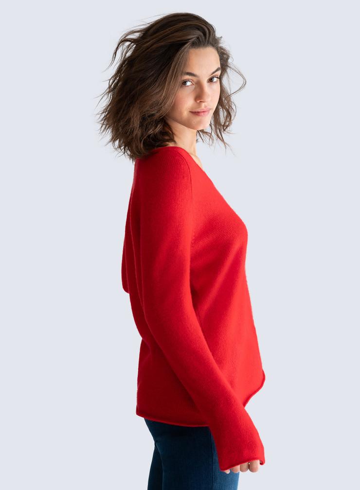 V-neck Mongolian cashmere Sweater