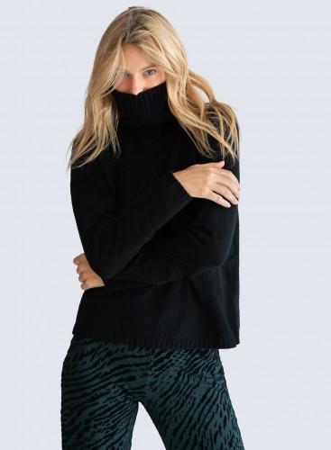 Turtleneck Sweater with openwork details