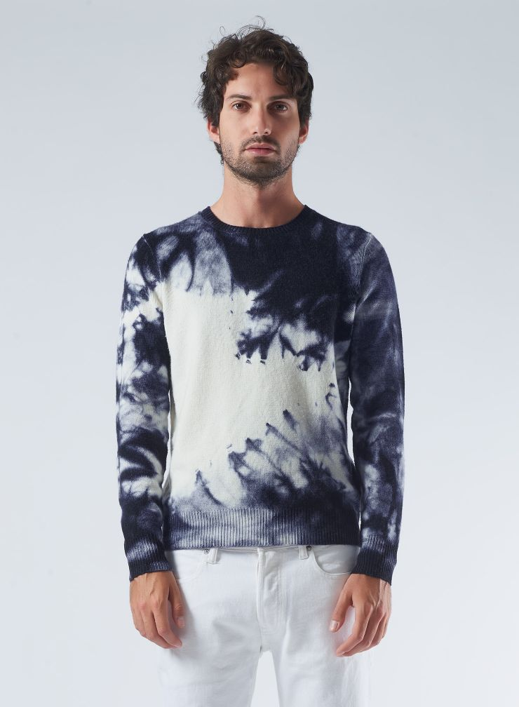 Pull col rond tie & dye