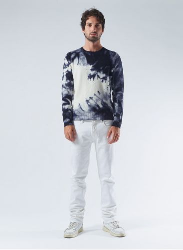 Round neck tie & dye Sweater