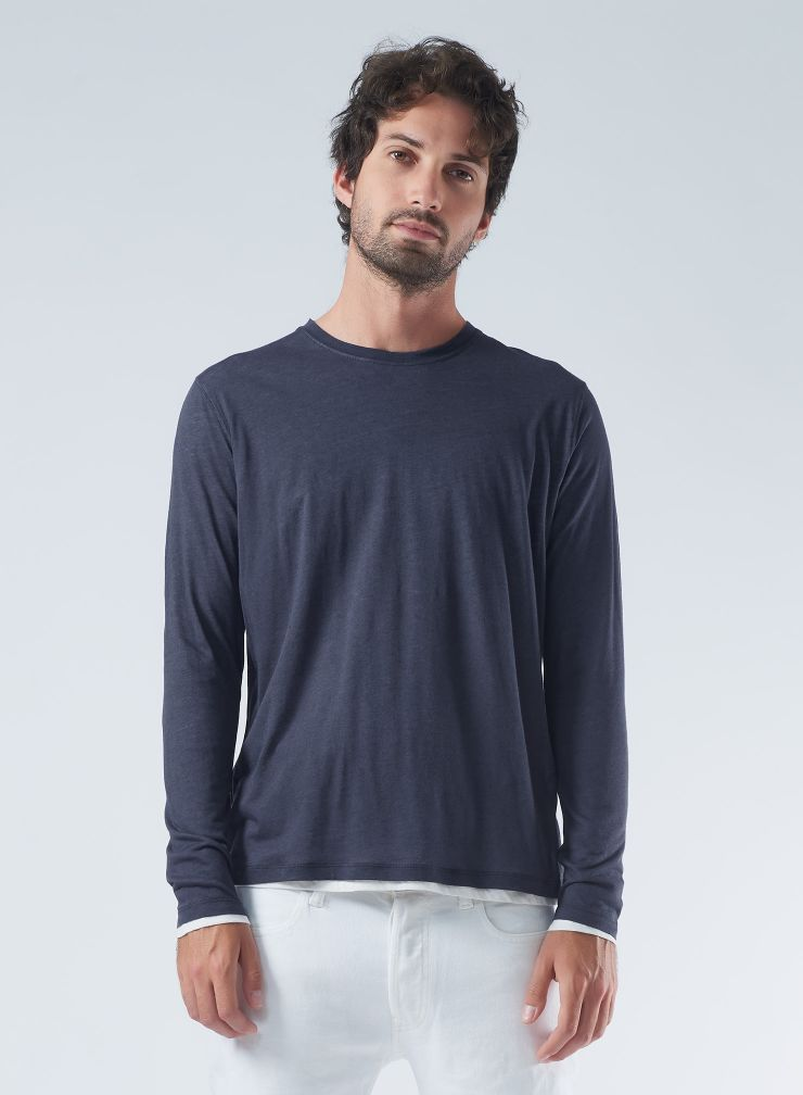 Round neck double sided T-shirt
