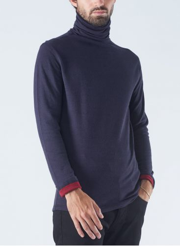 stand-up collar double sided T-shirt