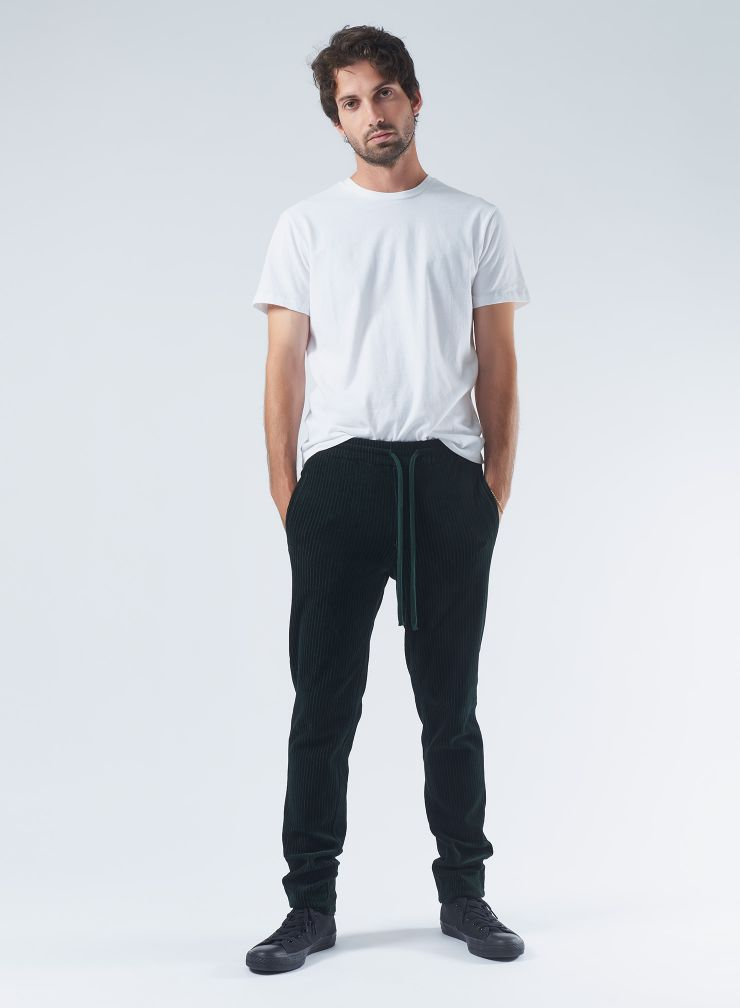 Ribbed velvet straight Pants