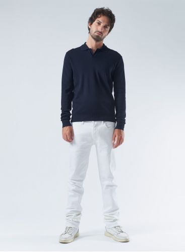 Ribbed finish Polo Shirt