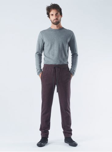 Jacquard straight Pants