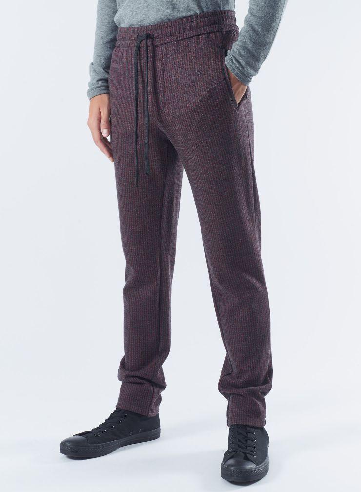 Jacquard straight Pants