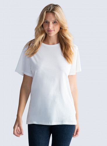 T-shirt oversize col rond Silk Touch