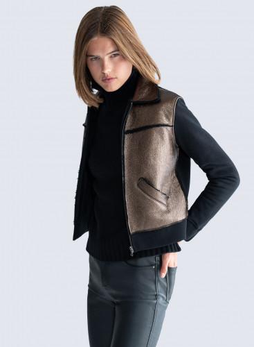 Shimmering sheepskin Jacket