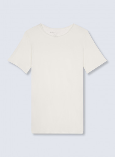 Round neck rolled finish T-shirt