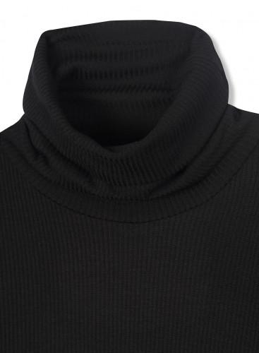 T-shirt col roulé côtelé