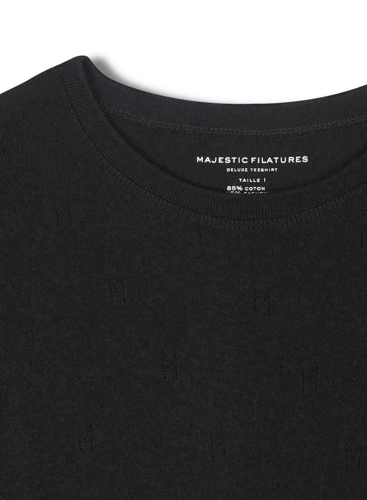 """T-shirt col rond aux """"M"""" ajourés"""