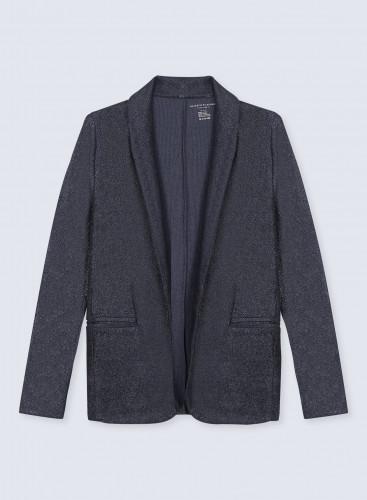 Shimmering Jacket in fine ribs velvet