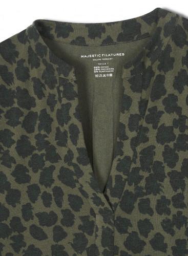 Tunisien sans bouton imprimé léopard
