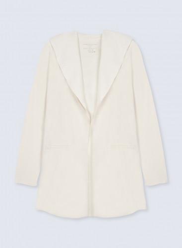 Manteau à capuche double face