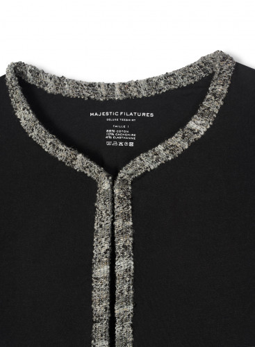 Round neck braid finish Jacket