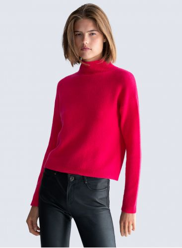 Stand-up collar Sweater