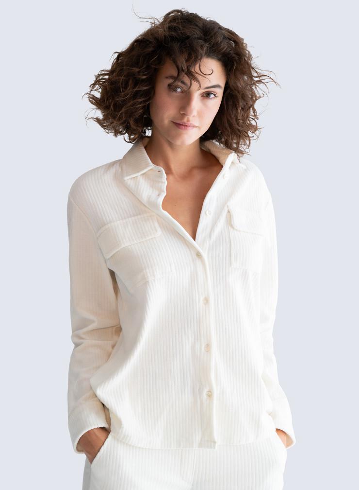 Ribbed velvet Shirt