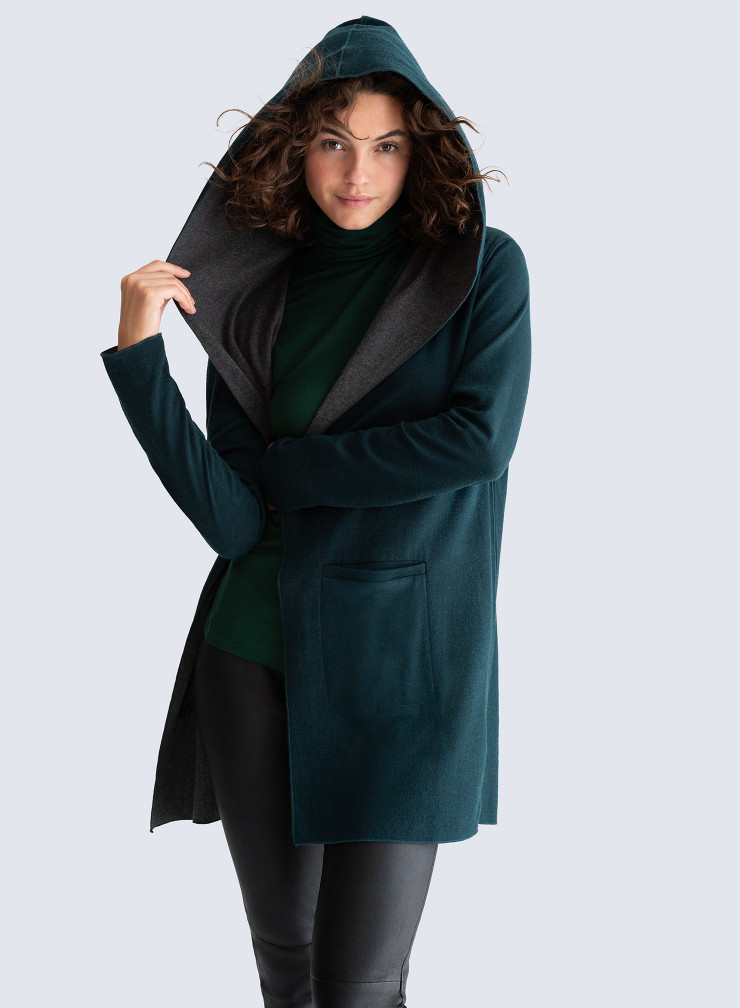 Double sided hooded Coat