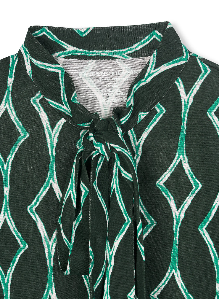 Chemise à col lavallière imprimée
