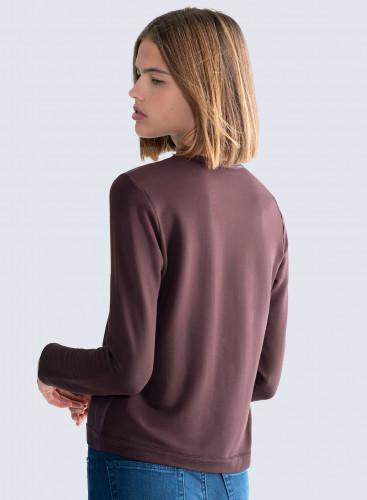Leather insert cardigan