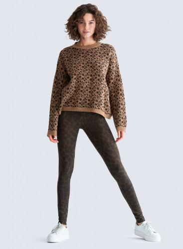 Legging imprimé léopard