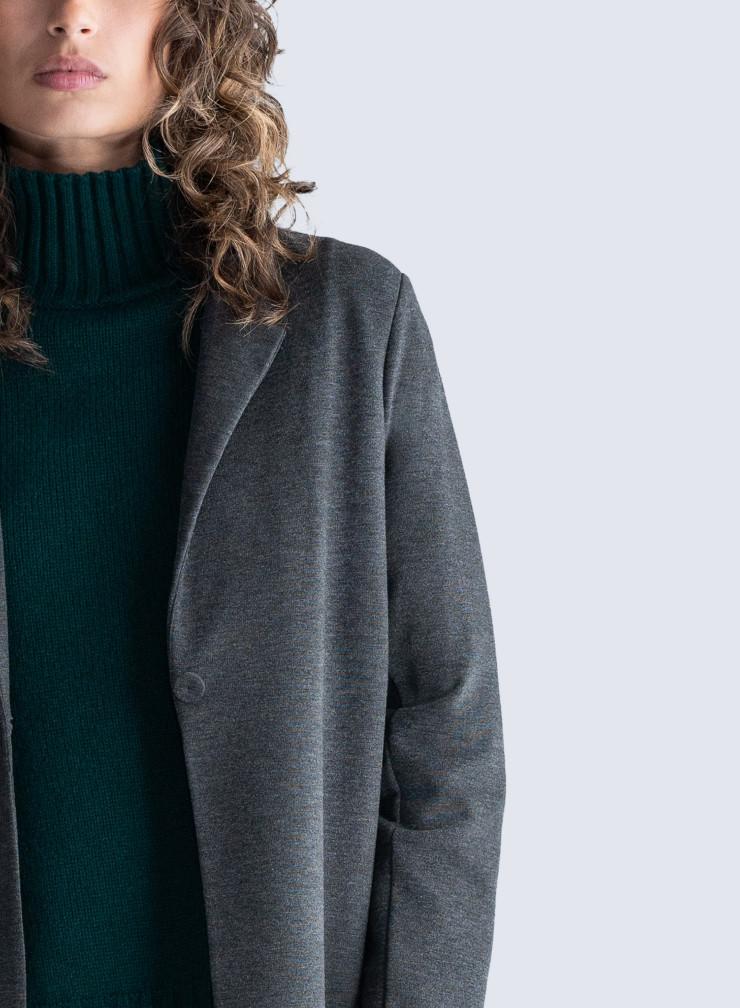 Manteau deux poches plaquées