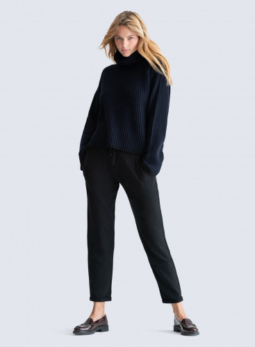 Turtleneck ribbed and flared Sweater