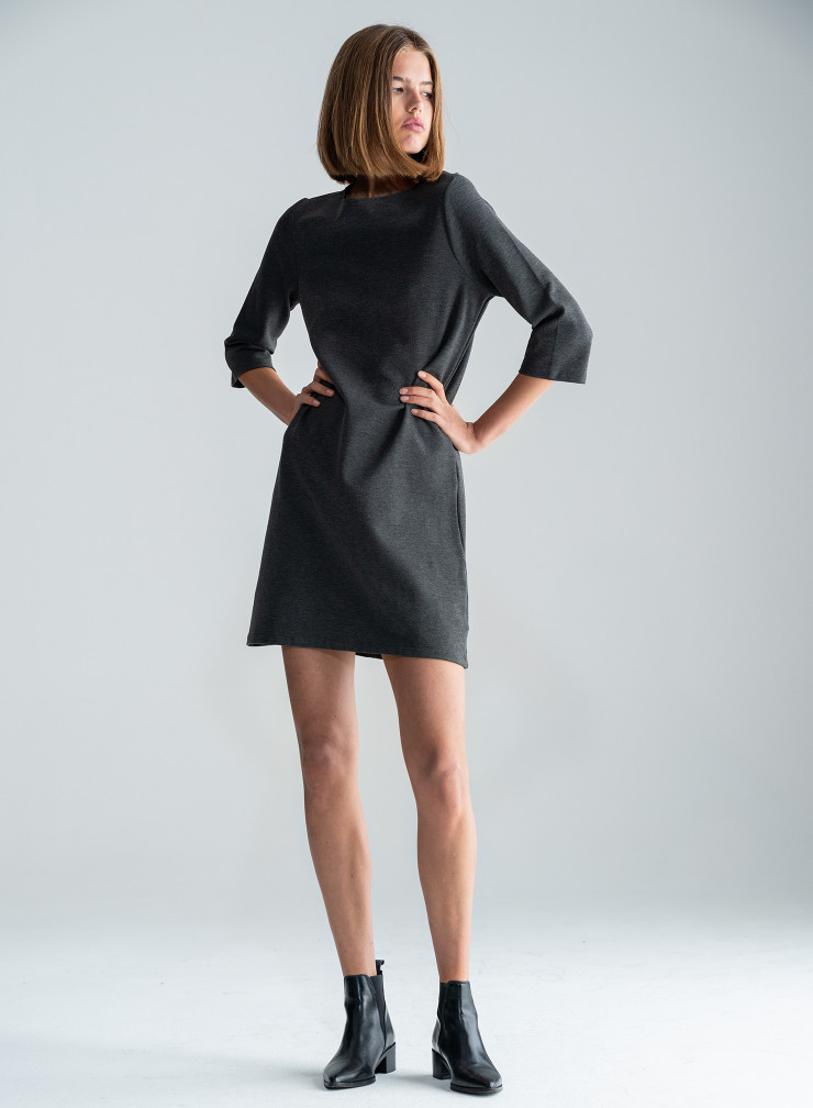 Robe col rond