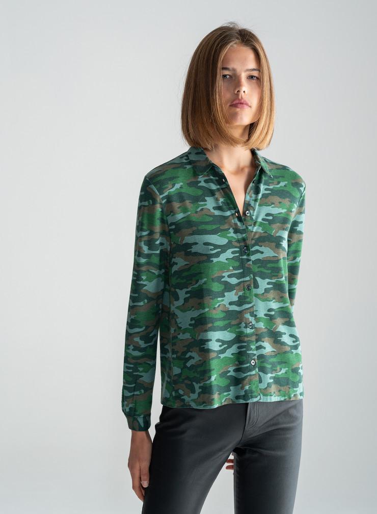 Chemise imprimé camouflage