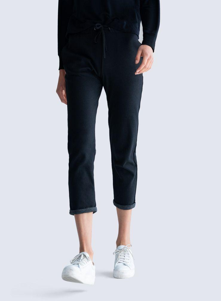 Pantalon à revers double face