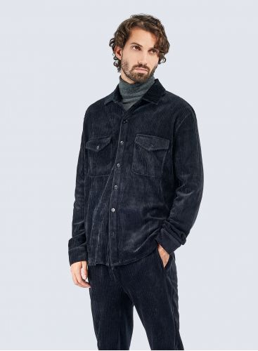 Ribbed velvet Overshirt