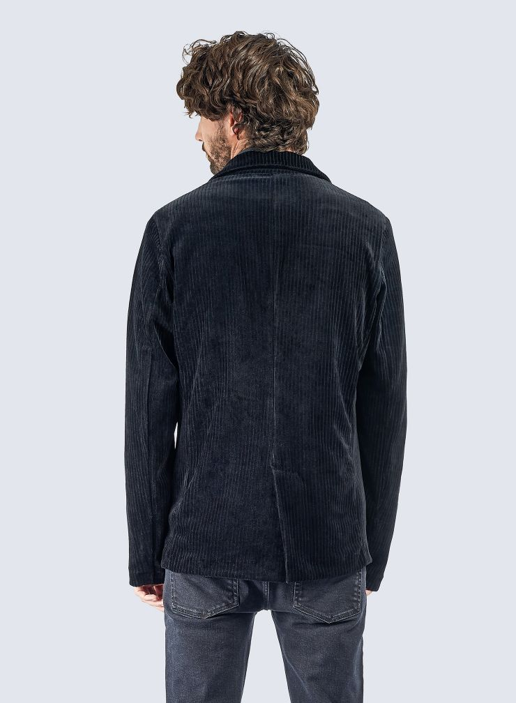 Ribbed velvet 3 pockets Jacket