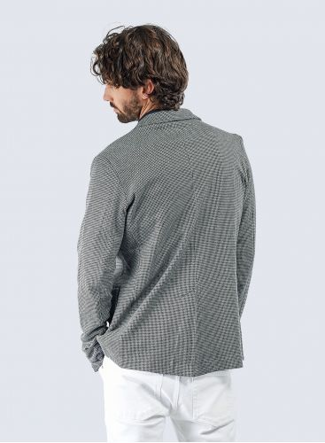 Micro houndstooth 3 pockets Jacket