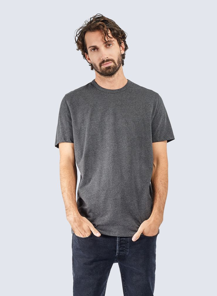 Round neck Cotton pique T-shirt