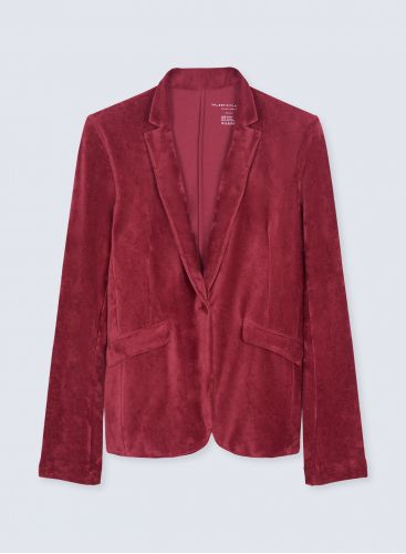 Velvet 1 button Jacket