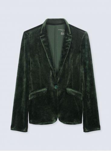 Velvet 1 button Jacket