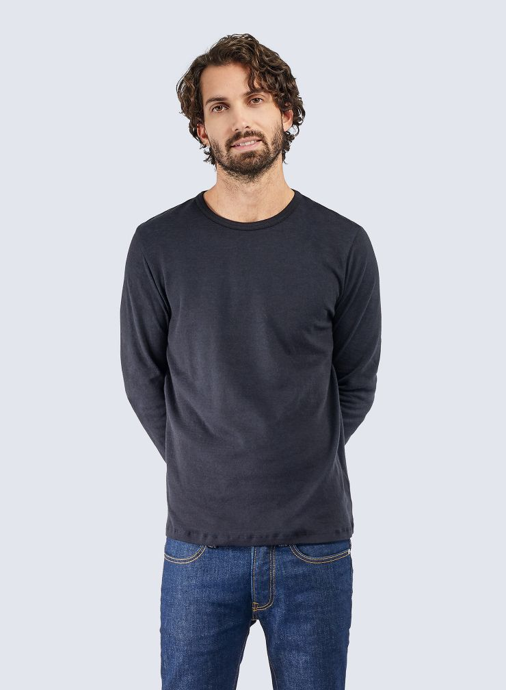 T-shirt col rond double face