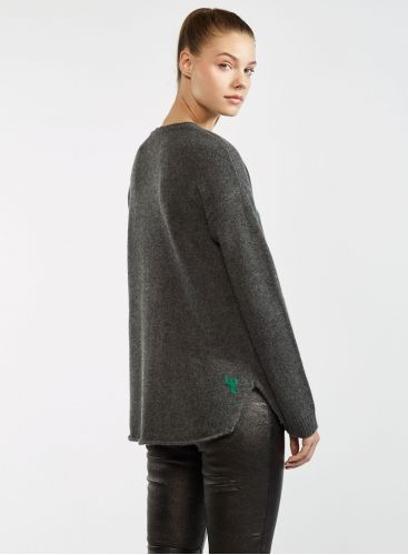 Oversized round neck sweater