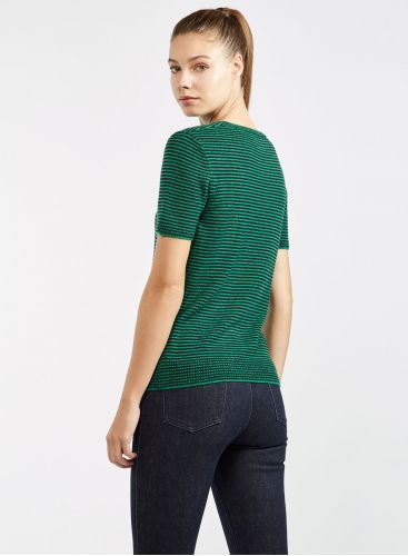 Short sleeve round neck sweater