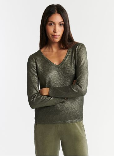 Shimmering V-neck sweater