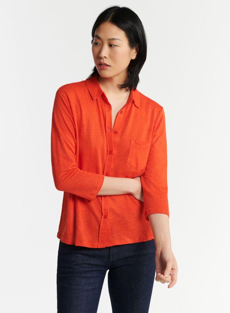 1 pocket 3/4 sleeve shirt