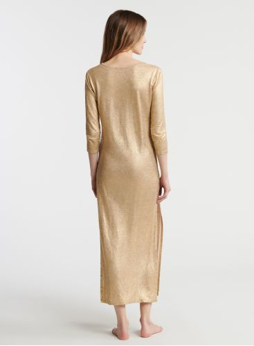 Shimmering djellaba long dress