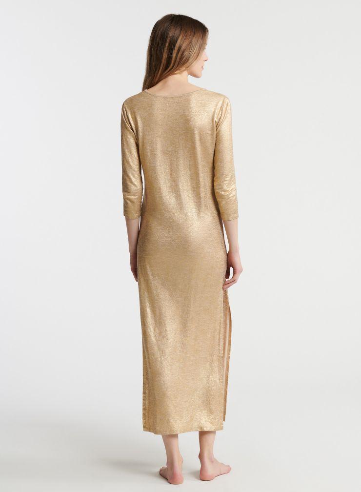 Robe longue Djellaba métallisée