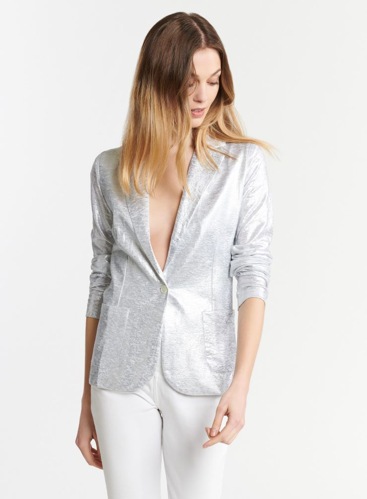 Shimmering 1 button jacket
