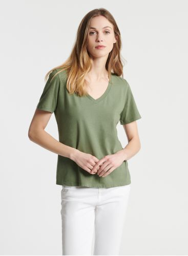 T-shirt col V Silk Touch Patty