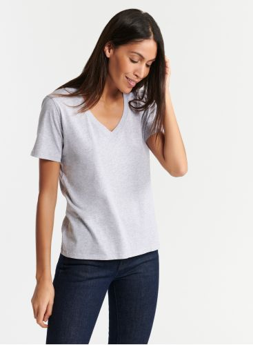Silk Touch V-neck T-shirt