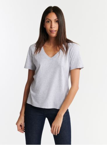 T-shirt col V Silk Touch