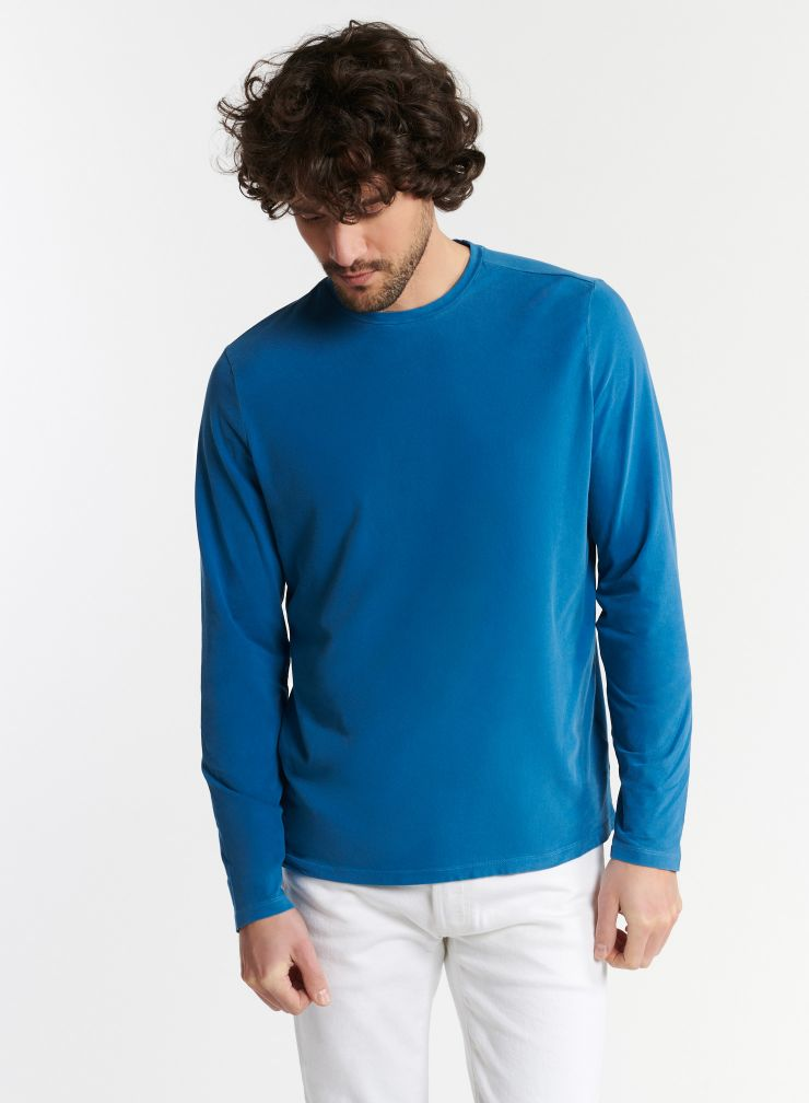 Homme - T-shirt col rond teinture artisanale Henry